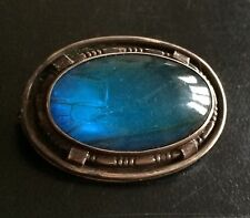 MORPHO JEWEL MARQUE ARGENT BUTTERFLY BLUE WING BROCH SILVER VINTAGE FRENCH 1900
