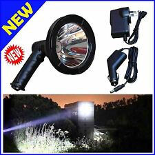50W Handheld Spotlight Rechargeable 12V Portable LED Hunting Search Lamp Bright