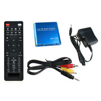 AGPTEK Mini 1080P Full HD Digital Media Player-MKV/RM-SD/USB HDD CVBS YPbPr