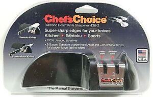 Chef's Choice Diamond Hone Knife Sharpener 436-3 Brand New Sealed