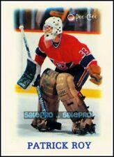 OPC 1988 PATRICK ROY NHL MONTREAL CANADIENS GOALIE SUPERSTAR MINI MINT CARD #33