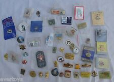 LOT OF 49 ASSORTED PINS, OLYMPIC, SOCCER, ADVERT. BUDWEISER, VG, SOME USED,LQQK