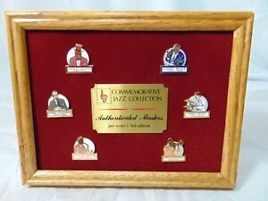 Commemorative Jazz Collection Authenticated Masters Pin Series Limited Edition