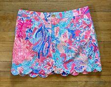 New Lilly Pulitzer Collette Skirt Size 4 Light Pascha Pink Aqua Desiac