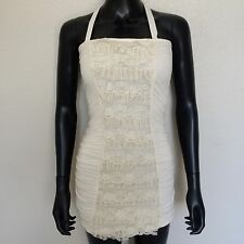 Guess Womens White Lace Bodycon Stretch Fit Mini Dress Size Small Floral S