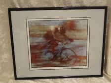 1992 Andrew Carson Print - Cycling  Matte Framed and Numbered 44/250