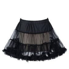"""Boolavard® TM 18"""" 50s Retro Underskirt Swing Vintage Mini Petticoat Fancy Net"""