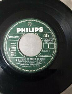 45 tours JOHNNY HALLYDAY l'histoire de bonnie et clyde 2 titres (sans pochette)