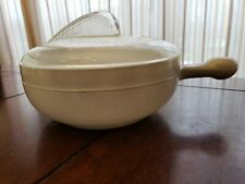 Glasbake Chili Bowl.with Lid GRAY