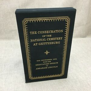 The Consecration of the National Cemetery at Gettysburg Easton Press Leather