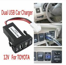 Auto Dual USB Port Charging Car Charger Auto Double Socket For TOYOTA VIGO New