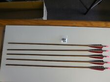 5 Easton XX75 1916 Classic Aluminum Woodgrain Arrow Shafts 31""