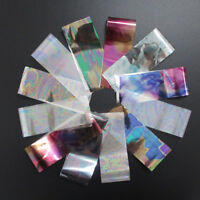 12pcs/set laser shell lines nail foil nail art transfer sticker manicure diy HC