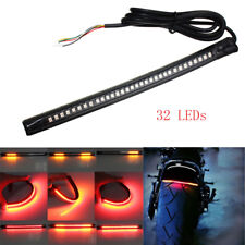 Universal Motorcycle Tail Brake Turn Stop Signal Integrated 32 LED Light Strip