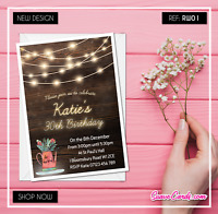 Personalised Birthday Invitations Rustic Party Invites 30th 40th 50th 60th 70th