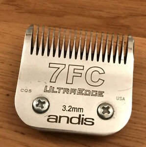 Andis Metal Ultra Edge Blade Size 7 FC 3.2mm Used Once Dog Grooming