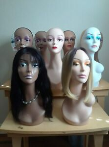 "Plastic Realistic Female MANNEQUIN head display Wig Hat Jewelry18"""