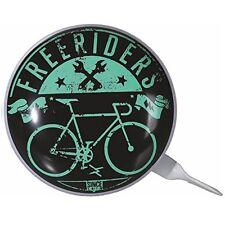 """Vintage Metall-Klingel Fahrradklingel Fahrradglocke Ø ca 8cm Motiv: """"Freeriders"""""""