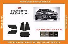 pellicola oscurante vetri pre-tagliata Fiat bravo 5 porte dal 2007 in poi comp