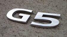 Pontiac G5 emblem letters badge decal logo trunk V6 OEM Genuine Factory Stock