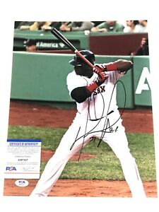 DAVID ORTIZ HAND SIGNED 11x14 PHOTO BOSTON REDSOX BIG PAPI PSA DNA