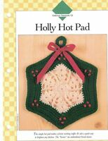 Holly Hot Pad Crochet Single Pattern Vanna White Great Stocking Stuffer