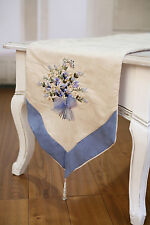 2 x Table Runners Cream with Embroidery Home Decor Party Decoration 150cms NEW