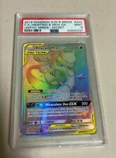 Mewtwo Mew GX Unified Minds Rainbow Secret 242/236 Mint PSA 9 Pokemon Card