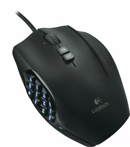 Logitech - G600 MMO Wired Optical Gaming Mouse - Black
