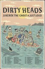 DIRTY HEADS Fall Tour 2018 Ltd Ed New RARE Poster! JUKEBOX THE GHOST JUST LOUD