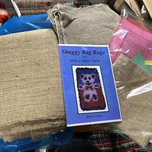 Vintage rag rug making bodger tool craft kit, tools, hessian rugs X3 Crafting