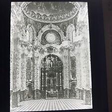 Antique Magic Lantern Glass Slide Photo Cartuja Covenant Spain 1910