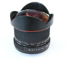8mm F3.5 HD Fisheye Len for Canon EOS 7D 6D 5D 70D 60D 1DX 1D 1Ds D30 50D 40D