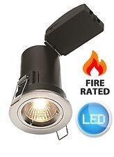 Chrome LED GU10 Fire Rated Downlight Die Cast Twist & Lock Polished Spot NEW