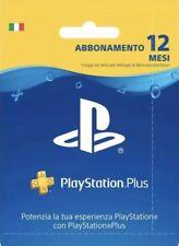 Abbonamento PLAYSTATION PLUS 12 Mesi Ps4/Ps3 ITA