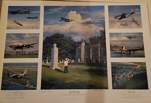 LEST WE FORGET by William Phillips. MINT. Signed. Limited Edition Print.