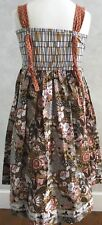 Matilda Jane Trunk Keeper Art Fair Tootsie roll yama knot dress size 10 NWOT 5/8