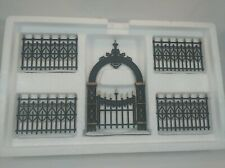 """Dept 56 Heritage Village Victorian Wrought Iron Gate And Fence"""" #52523 New"""