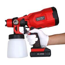 800ML Electric Paint Spray Gun Sprayer Cordless Electric Rechargeable Li-Ion 21V