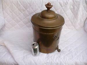 Vintage Brass Good Size Coal Bucket Lid+Handles Planter Pot Repair Project 1970s