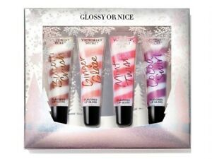 Victoria's Secret Glossy or Nice Flavored Lip Gloss Holiday Gift Set