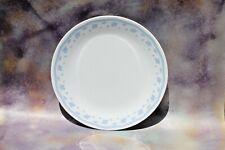 """Vtg Corelle Corning Dinner Plate Morning Blue Flowers Scallop Border Trim, 10"""""""