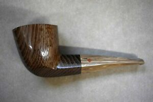 Moretti Pipe Bicolor Morta Smooth Freehand Cumberland Stem Hand Cut No Reserve