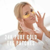 LuxeBiotics 24K Pure Gold Under Eye Patches Hyaluronic Acid Hydrogel Patches
