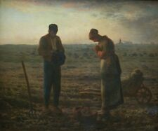 The Angeles Jean Francois Millet 1859 Vintage Painting Lithograph Print