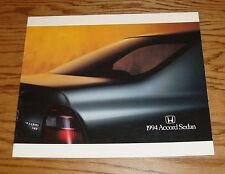 Original 1994 Honda Accord Sedan Deluxe Sales Brochure 94