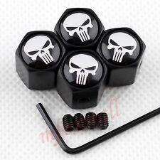 Anti-theft Wheels Tire Valve Screw Cap Dust Cover Skull Head Caribbean Pirate 4X