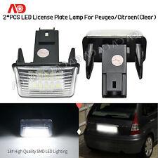 For Peugeot Citroen SEDAN HATCHBACK SW C3 LED License Number Plate Light Lamp 2X