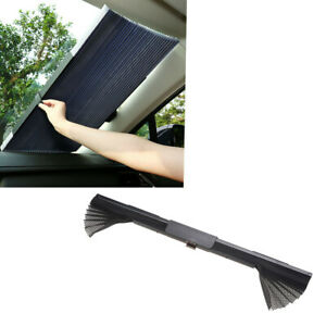 Black Side Window Sun Shade Curtain Windshield Sunshade UV Protection FIT Car