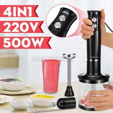 4 in 1 Electric Hand Stick Blender Mixer Vegetable Juicer Grinder Processor Set
